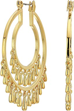 Drama Teardrop Hoops Earrings