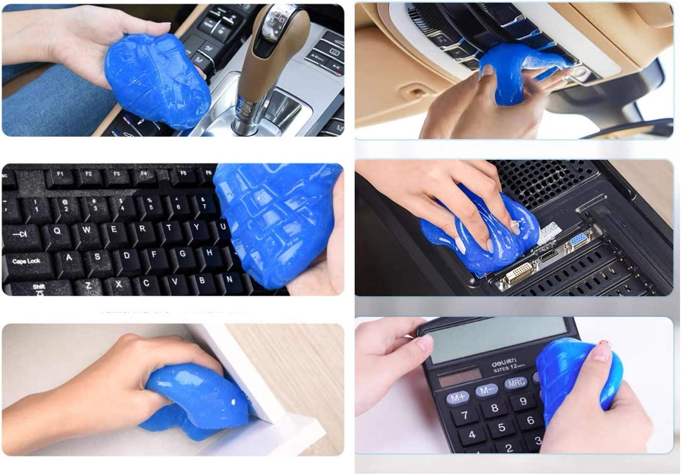 Cleaning Gel 160G, Dust Cleaning Mud for Car, Car Accessories, Keyboard Printers Cameras PC Tablet Laptop Airpods Case Cleaner