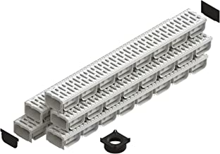 Standartpark - 4 Inch Trench Drain System With Grate - Ivory Color - Spark 2 Channel (5)