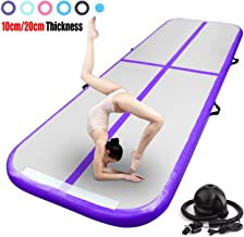 FBSPORT 13ft/16ft/20ft/23ft/26ft Inflatable Gymnastics Air Track Tumbling Mat 4/8 inches..
