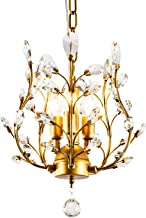 Ganeed Crystal Chandeliers,K9 Crystal Pendant Light with,3-Light Chandelier Lighting Fixtures,Ceiling Light for Living Roo...