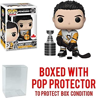 POP! Sports NHL Sidney Crosby with Stanley Cup Chase Pittsburgh Penguins Canada Exclusive Action Figure (Bundled with Pop Box Protector to Protect Display Box)