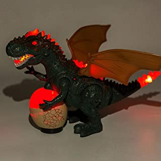 Electric Dinosaur Model Toy Automatic Walking Glow Dinosaurs Toys with LED Light Sound Swing Intelligent Induction Gift fo...