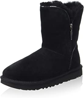 Ugg Australia Woman's Ugg Florence Black Suede Ankle Boots With Zip