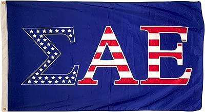 Sigma Alpha Epsilon USA Letter Fraternity Flag Greek Letter Use as a Banner 3 x 5 Feet Sign Decor SAE