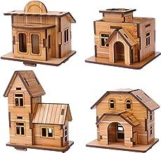 ZOSEN 3D Wooden Puzzle - Mini House Model - EducationalToys 3D Puzzle Gift for Children (4 pieces)