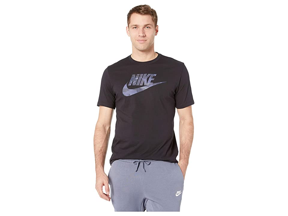 Nike NSW Camo 1 Tee (Black/Midnight Navy) Men