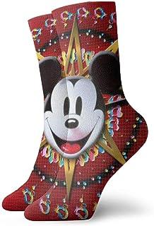 Dfhrtgre, Calcetines de Mickey Minnie para hombres, mujeres, adolescentes y niñas, para niños, divertidos, casuales, acogedores, el mejor regalo