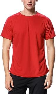 Mens Sun Protection Swim Shirts Rash Guard Swim Tee Short Sleeve Swimwear