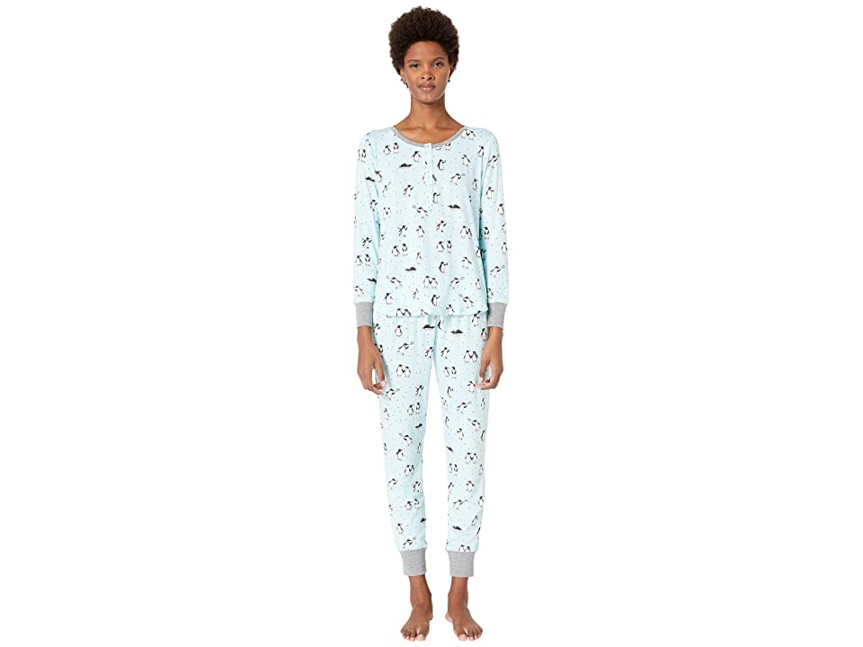 Kate Spade New York Printed Jogger Pajama Set (Penguins) Women