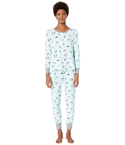 Kate Spade New York Printed Jogger Pajama Set (Penguins) Women