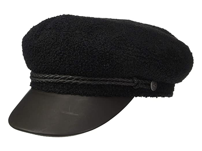 1910s Men's Working Class Clothing Brixton Ashland Cap BlackBlack Caps $44.00 AT vintagedancer.com