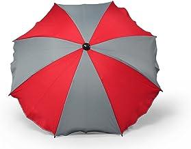 Sombrilla universal para cochecito y silla de paseo deportiva, sombrilla para cochecito de bebé con soporte universal, protección UV 50+, parasol (color gris)