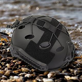 ヘルメットロープ ヘルメットカバー ヘルメットアクセサリー  ライト装備 6セット 強化ナイロン