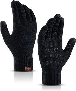 دستکش زمستانی مردانه MAJCF برای زنان آب و هوای سرد ، دستکش های صفحه لمسی گره ای حرارتی