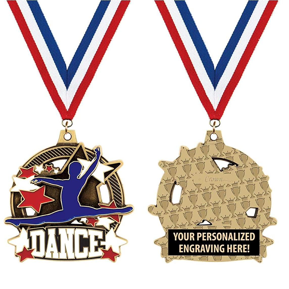 Crown Awards Custom Male Dance Medals, 2 1/4