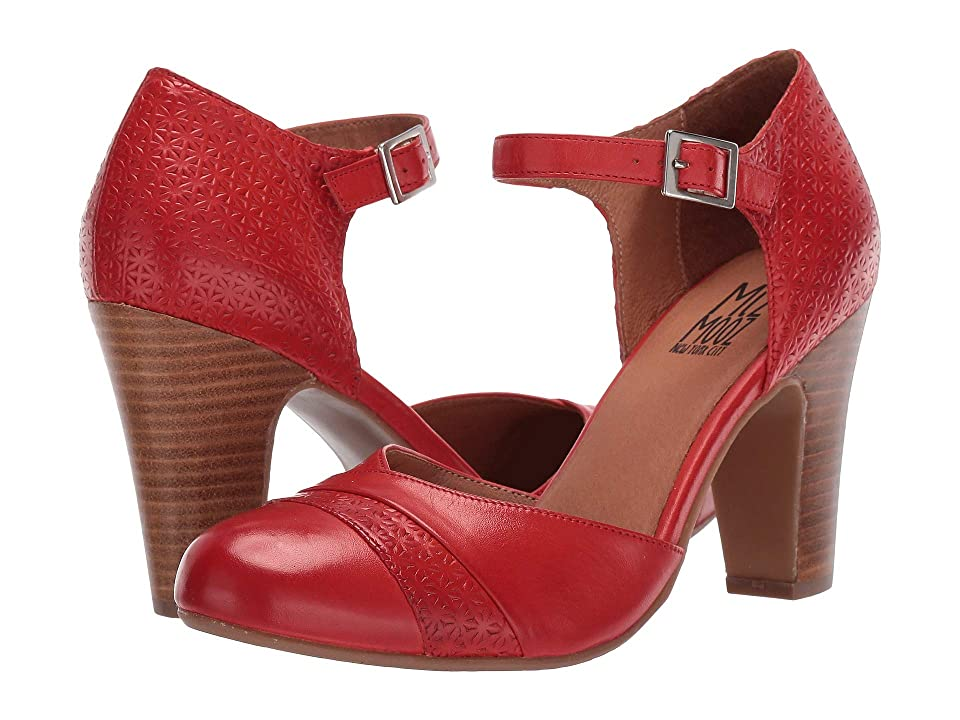 Pin Up Shoes- Heels, Pumps & Flats Miz Mooz Jay Scarlet Womens Shoes $139.95 AT vintagedancer.com