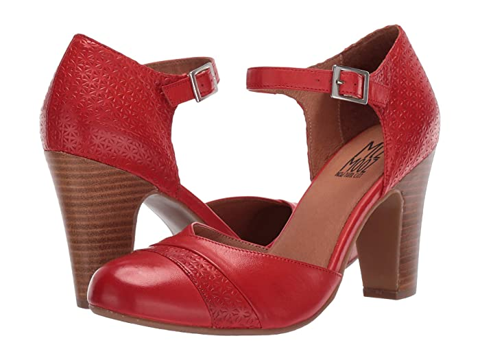 1950s Shoe Styles: Heels, Flats, Sandals, Saddles Shoes Miz Mooz Jay Scarlet Womens Shoes $97.99 AT vintagedancer.com