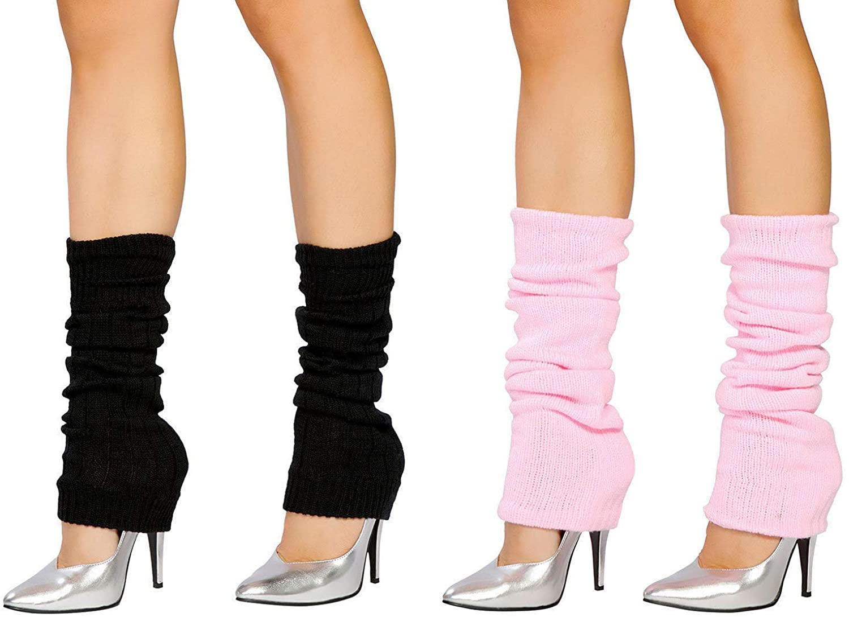 SUNTRADE 2 Pair Leg Warmers,Women Girls Boots Cuff Warmer Ribbed Stretch Knee Leg Socks