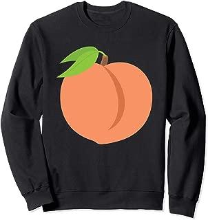Emoji Peach Fuzzy Fruit GA Atlanta Bottom Emoticon Texting Sweatshirt