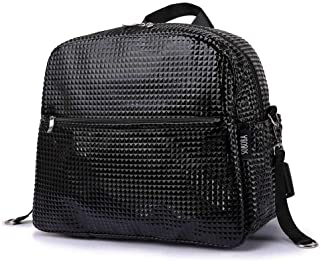 Redland Art Stroller Bag For Baby Travel 18L Large Capacity Diamond Plaid Solid Waterproof Diaper Bag For Mother Maternity Bag With 2 Straps (Color : Black)