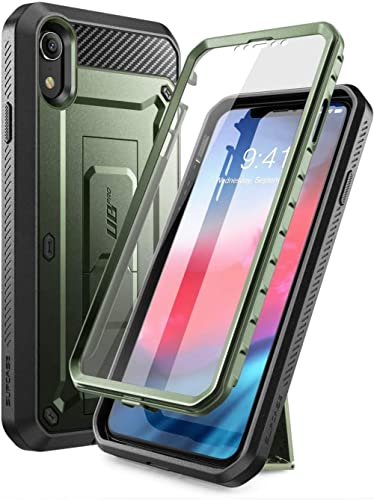 SUPCASE Unicorn Beetle Pro Series Case Designed for iPhone XR, with Built-in Screen Protector Full-Body Rugged Holste...