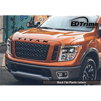 Red Grille//Hood Letters for Titan 2016-Up Front Inserts Not Decals SF Sales USA