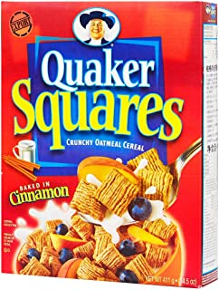 Quaker Oatmeal Square Cereal, Cinnamon, 411 G