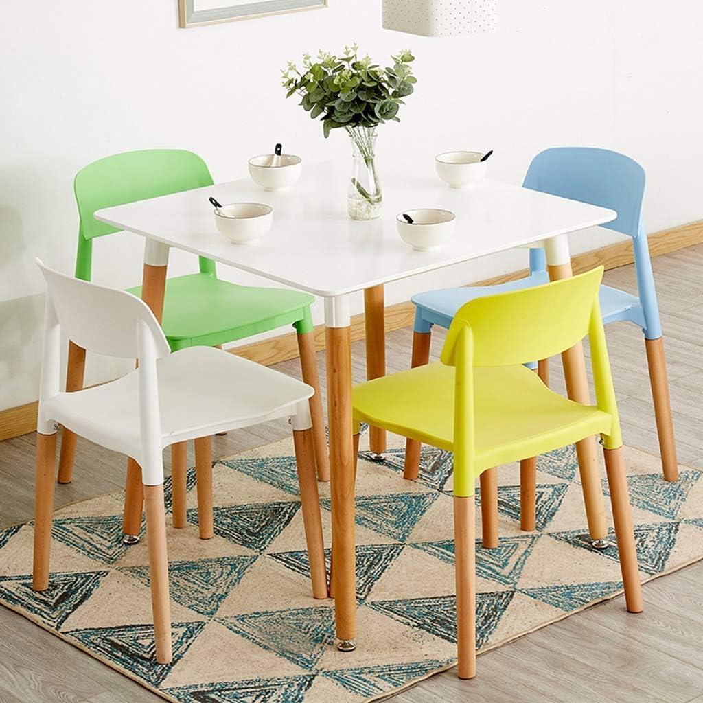 SLL- Chaise de Salle, Chaise de Bureau Simple, créative Dossier, Chaise Loisirs, Maison Adulte Chaise de Salle Moderne (Color : Red) Yellow
