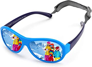 COASION Infant Aviators Sungl Flexible Polarized Baby Shades for Ages 0-2
