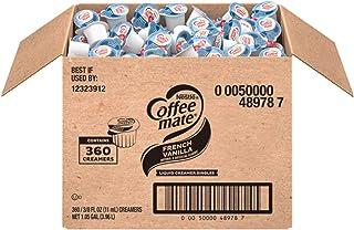 Nestle Coffee mate Coffee Creamer, French Vanilla, Liquid Creamer Singles, Box of 360 Singles