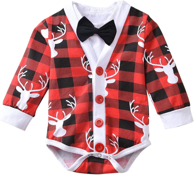 fioukiay wholesale Preemie Newborn Boys Baby Las Vegas Mall Christmas-Bodysuit-Romper-Clo