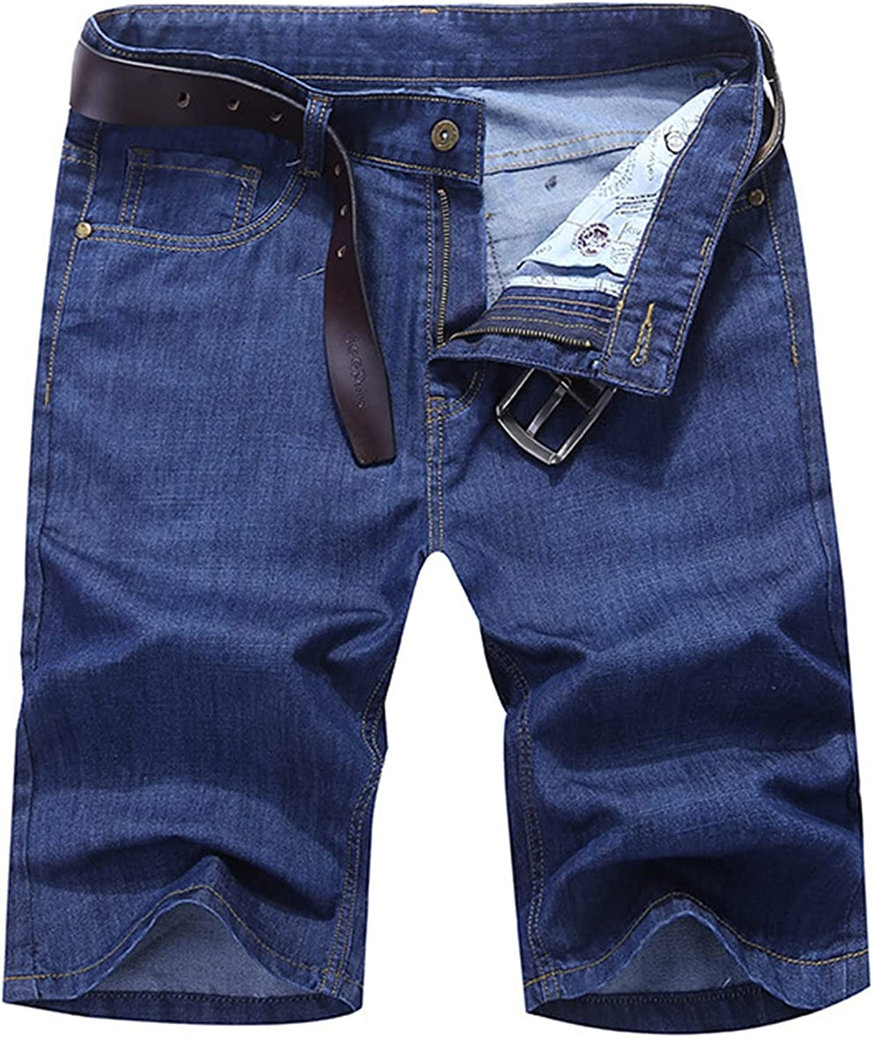 Men's Casual Loose Straight Denim Shorts Comfy Relaxed Fashion Denims Short Classic Slim Washed Jean Short-pant