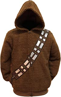 Chewbacca Costume Hoodie Men's Adult Zip Up Sherpa Jacket