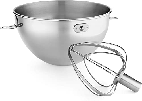 new arrival KitchenAid 3-Qt. Stainless sale Steel Bowl & Combi-Whip - Fits Bowl-Lift models KV25G and lowest KP26M1X outlet sale