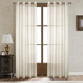 Best cream linen curtain panels Reviews