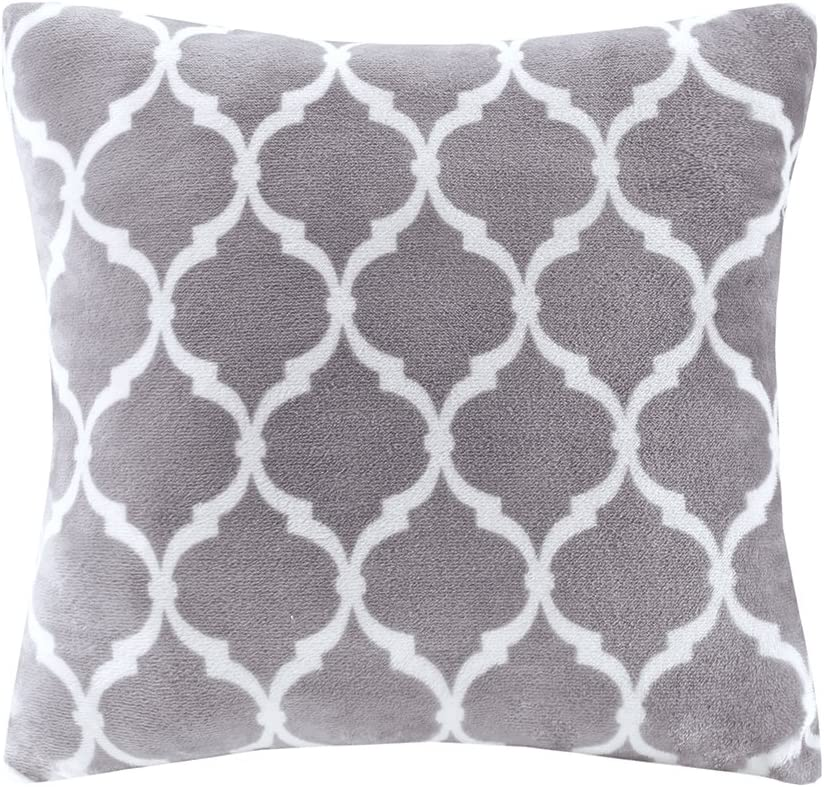 Madison Park Ogee Plush Square New sales Décor Selling rankings Super Throw-Pillow Soft
