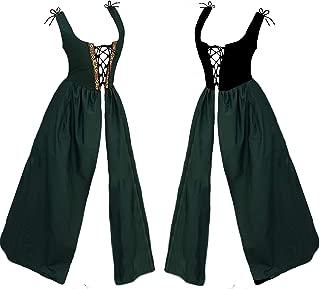 Faire Lady Designs Renaissance Medieval Celtic Princess Costume Reversible Bodice Green Irish Over Dress Size LGE