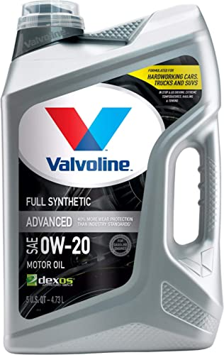 Valvoline Advanced Full Synthetic SAE 0W-20 Motor Oil 5 QT
