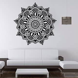 Drfoytg Clearance,Wall Stickers Home Decor Mandala Flower Sticker Indian Style Wallpaper Halloween Bohemia (Black)