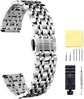 BINLUN Stainless Steel Watch Band 6 Color(Gold, Sliver, Black, Rose Gold, Gold Tone, Rose Gold Tone) 17 Size (10mm - 26mm)