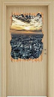 UYEDSR Pegatinas de Pared Hermosa Vista sobre el Avance de la Madera de Londres en la Pared con Apariencia 3D o Etiqueta d...