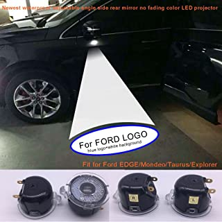 2pcs set Side rear view mirror projector ghost shadow puddle logo light for Ford Edge Expedition Explorer FLEX Fusion Taurus-no fading color plug and play (From FBA)