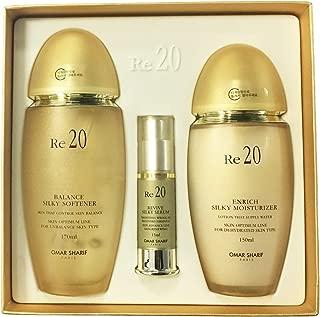 Omar Sharif Re20 Balance Silky Softener Enrich Moisturizer 2pcs set Anti aging Rejuvenation Revitalization Skin Care Made in Korea Cosmetic Beauty
