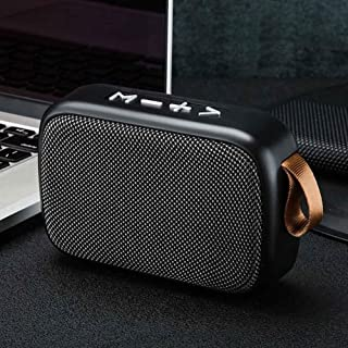 ZYZRYP Rechargeable Outdoor Bluetooth Speaker Stereo Sound Office Tablet Mini Portable Loudspeaker FM Wireless Surround Smartphone Home (Color : SILVER)