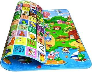 Tapis de Sol Épais en Mousse Bébé, Swonuk 180 * 120CM Tapis de Jeu à Double Face, Tapis Rampant en Mousse Pour Bébé Enfant...