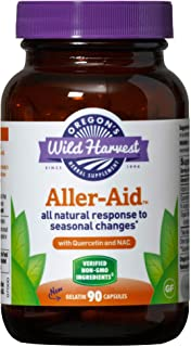 Oregon's Wild Harvest Non-GMO Aller-Aid Capsules with Quercetin (Packaging May Vary), 90 Count