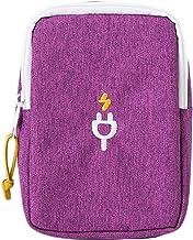 کابل دیتا شارژر تلفن همراه چند منظوره لوازم جانبی لوازم جانبی الکترونیکی iSuperb کابل دیتا برای سفر با کیف دستی مش (بنفش)