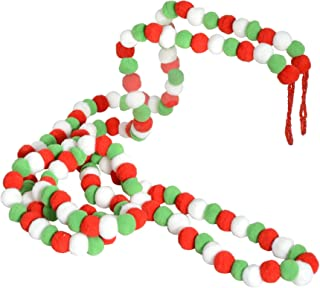 Best red and green pom pom garland Reviews