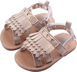 DZT1968 Baby Girl Anti Slip Tassels Sandal Shoes Prewalker